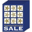 28in. x 22in. Standard Poster in.ANNIVERSARY SALEin., White/Gold on Blue, 6/Pack
