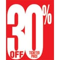 28in. x 22in. Standard Poster in.30% OFF TICKETED PRICEin., White on Red