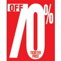 28in. x 22in. Standard Poster in.70% OFF TICKETED PRICEin., White on Red