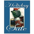 28in. x 22in. Standard Poster in.HOLIDAY SALEin., White on Blue