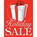 28in. x 22in. Standard Poster in.HOLIDAY SALEin., White on Red