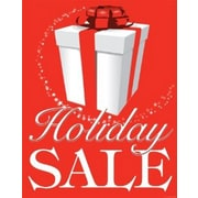 28 x 22 Standard Poster HOLIDAY SALE, White on Red