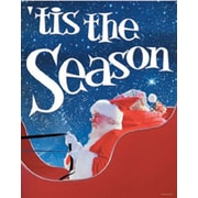 28 x 22 Standard Poster TIS THE SEASON, White on Blue