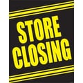 28in. x 22in. Standard Poster in.STORE CLOSINGin., Yellow on Black