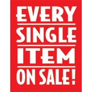 28 x 22 Standard Poster EVERY SINGLE ITEM on SALE, White on Red