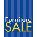 28in. x 22in. Standard Poster in.FURNITURE SALEin., Yellow/White on Blue