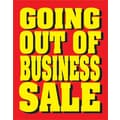 28in. x 22in. Standard Poster in.GOING OUT OF BUSINESS SALEin., Yellow on Red