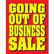 """Foxfire TPE290-W1 28"""" x 22"""" Heavy Paper """"Going Out Of Business - Sale"""" Standard Poster"""