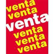 28 x 22 Standard Poster VENTA VENTA VENTA, White/Yellow on Red