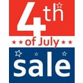 28in. x 22in. Standard Poster in.4TH OF JULY SALEin., White on Blue/Red