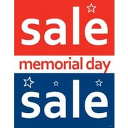 28 x 22 Standard Poster MEMORIAL DAY SALE, White on Red/Blue, 6/Pack