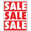 28in. x 22in. Standard Poster in.SALEin., White on Red