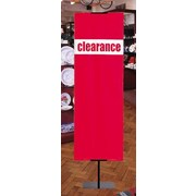6' x 2' Vertical Vinyl Banner CLEARANCE, Red on White