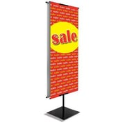 6' x 2' Vertical Vinyl Banner SALE, Red on Yellow