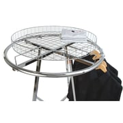 "Econoco 30RTC Grid Basket Rack Topper, 30"" Dia, Chrome"