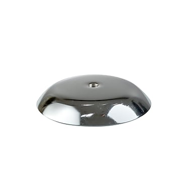 4 in.  Round Display Base With 3 / 8 in.  Threading, Chrome