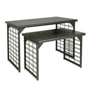 Econoco A325/MAB Nesting Display Table, Slat Grid, Black, Matte