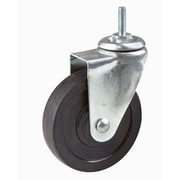 "Econoco ACT4 4"" Industrial Rubber Caster, 1"" x 5/16"" Dia Stem, Black"