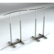 Bauhaus Curve Single Bar Merchandiser With C-Shaped Hangrail, Stain Chrome