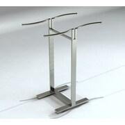 "Econoco BA47CRVSC Bauhaus Curve 48"" - 72"" Adjustable 4-Way Merchandiser, S-Shaped Hangrail, Satin Chrome"