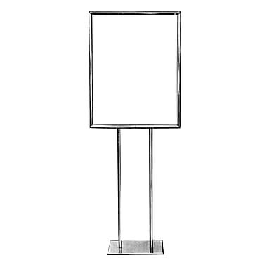 14 in.  x 22 in.  Bulletin Sign Holder With Flat Base, Chrome