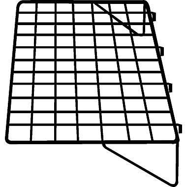 1 / 8 in.  Wire 14 in.  x 23 1 / 2 in.  Gridwall Straight Shelf, Black