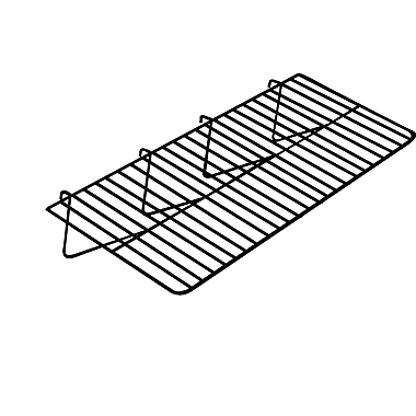 1 / 8 in.  Wire 12 in.  x 23 1 / 2 in.  Gridwall Straight Shelf, Chrome
