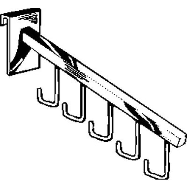 18 in.  Square Tubing Faceout 5 Hook Waterfall, Chrome