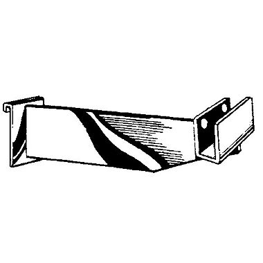 Hangrail Brackets For Rectangular Tubing, 12in.
