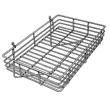 1 / 4 in.  Wire 4 1 / 2 in.  x 24 in.  x 15 in.  Gridwall Basket, Chrome