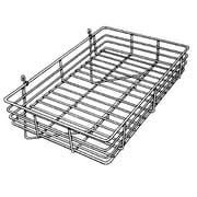 """Econoco GWS/92 Gridwall Basket, Chrome, 4 1/2"""" x 24"""" x 15"""""""