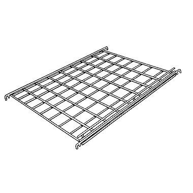 1 / 4 in.  Wire 24 in.  x 24 in.  Gridwall Straight Shelf With Front Lip, Chrome