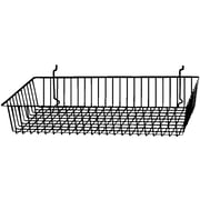 Econoco BSK11/B Shallow Basket, Black, Semi-Gloss