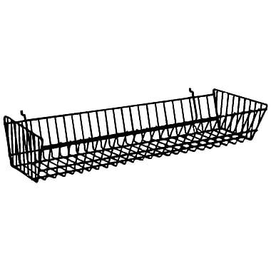 Econoco BSK12/W Double Sloping Basket, White, Semi-Gloss