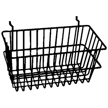 Econoco BSK17/EC All-Purpose Narrow Basket, Epoxy Chrome, Semi-Gloss