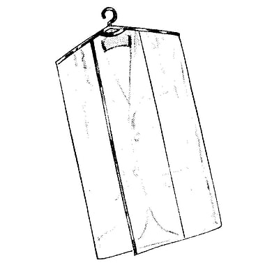 2 Gauge Vinyl 24 in.  x 54 in.  Garment Protector Overlap Cover With Open Bottom, Crystal Clear