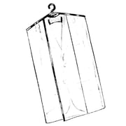 "Econoco C36 36"" x 24"" Garment Protector Overlap Cover with Open Bottom, Crystal Clear, 2 ga Vinyl"