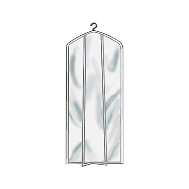 2 Gauge Vinyl 24 in.  x 72 in.  Garment Protector Overlap Cover With Closed Bottom, Crystal Clear