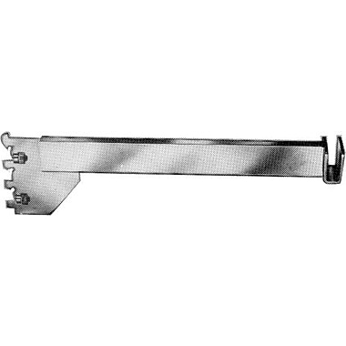 12 in.  Hangrail Bracket With Tightening Screw For 1 / 2 in.  x 1 1 / 2 in.  Rectangular Tubing, Chrome