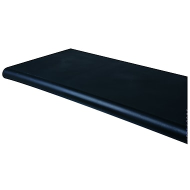 15 in.  x 50 in.  Duron Polystyrene Bullnose Shelf With Open Bottom, Black