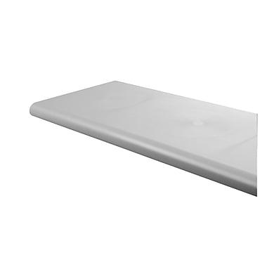 Econoco DA248/GY Duron Polystyrene Bullnose Shelf, Open Bottom, 13