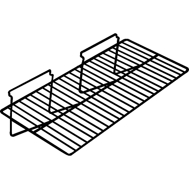 12 in.  x 24 in.  Straight Wire Shelf, White