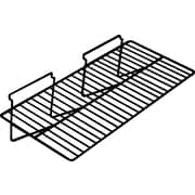 "Econoco EBL/2412 24"" x 12"" Straight Wire Shelf, Black, Metal"
