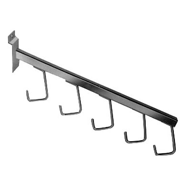 16 in.  5 Hook Waterfall Faceouts Square Tubing, Chrome