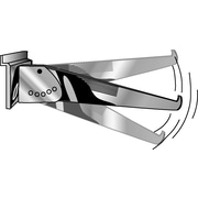14   Metal Adjustable Shelf Bracket For Slatwall, Chrome