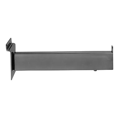 12 in.  Rectangular Tubing Faceout For Slatwall, Chrome