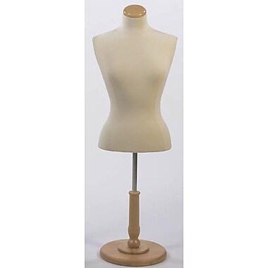 Econoco F5WB Female Blouse Form Tailor Bust, Polyurethane, Creme