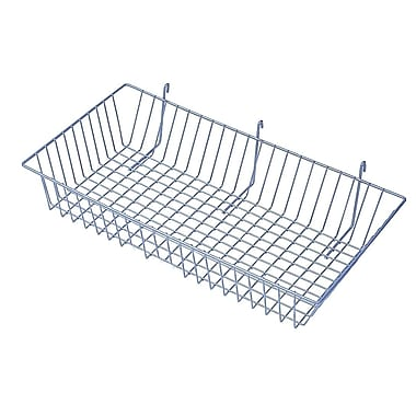 Slatwall/Gridwall Wire Baskets, 24