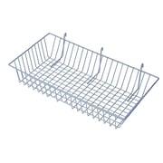 "Slatwall/Gridwall Wire Baskets, 24""W  x 12""D x 4""H"