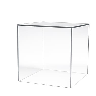 12 in. L x 12 in. W x 12 in. D Acrylic Countertop Large Display Cube, Clear